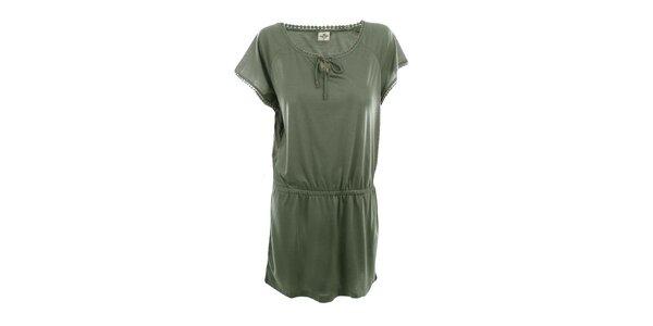 Dámské olivové volné šaty Timeout