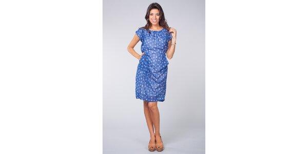Dámské světle modré šaty Blue Velvet s květinovým vzorem
