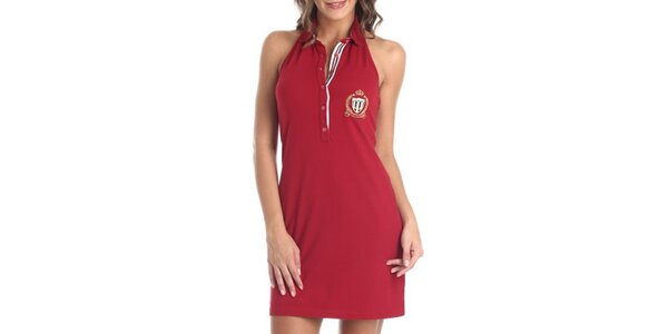 Dámské červené šaty bez rukávů Galvanni