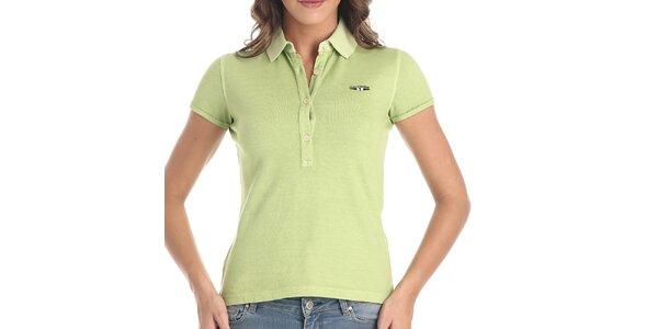 Dámské polo tričko v limetkové barvě Galvanni