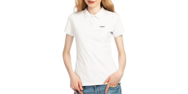 Dámské bílé polo tričko Galvanni