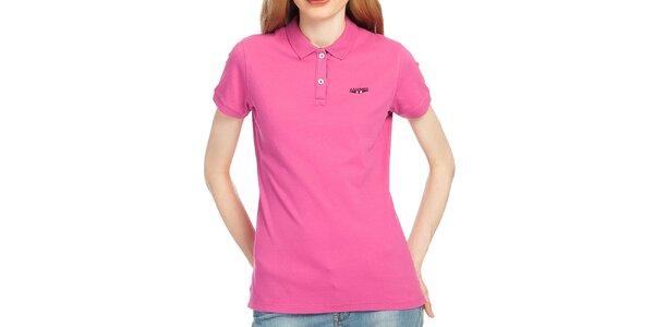 Dámské polo tričko ve fuchsiové barvě Galvanni
