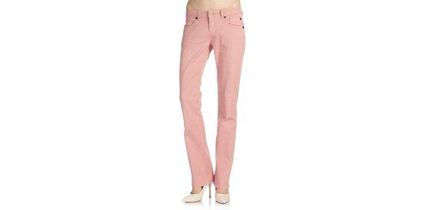 Dámské světle růžové kalhoty Galvanni