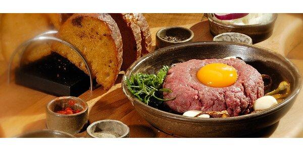 Tatarský biftek v zážitkové Středověké krčmě!