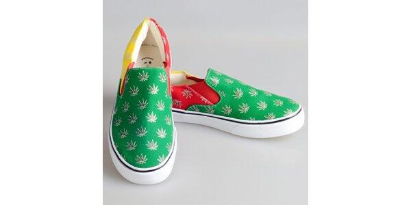 Dámské barevné boty s rostlinným potiskem The Bees