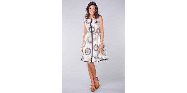 Dámské černo-bílé vzorované šaty Blue Velvet
