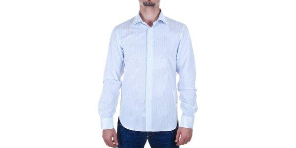 Pánská bílá proužkovaná košile Calvin Klein