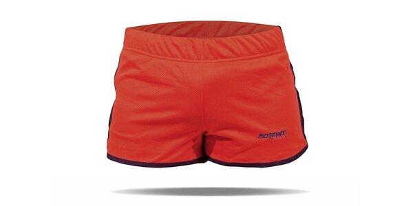 Červené běžecké šortky Mosmann Sport