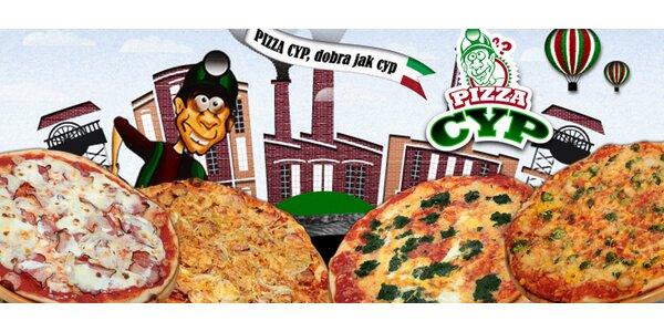 2 pizzy z Pizzerie Cyp s rozvozem zdarma