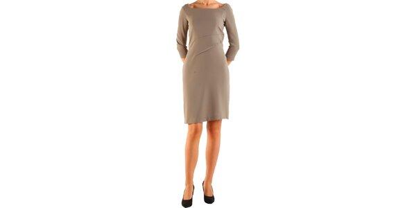 Dámské nugátově hnědé šaty Calvin Klein