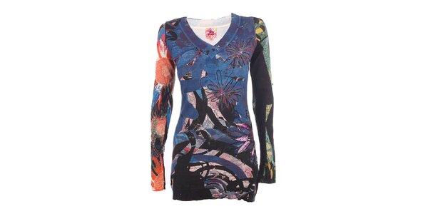 Dámský svetr s barevným potiskem DY Dislay Design