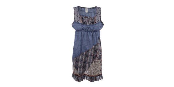 Dámské patchworkové šaty na ramínka Dislay DY Design