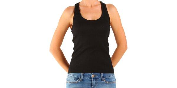 Dámské černé hedvábné tílko Calvin Klein
