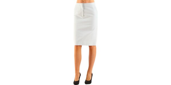 Dámská bílá pouzdrová sukně Calvin Klein
