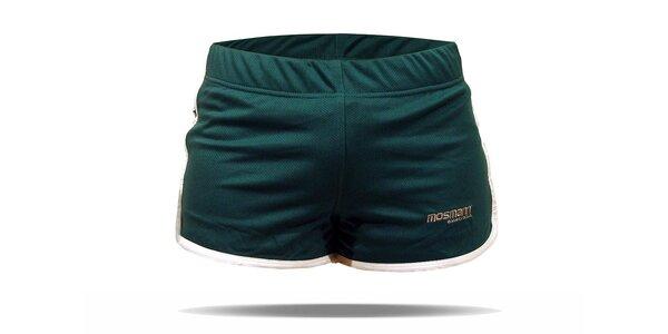 Zelené běžecké šortky Mosmann Sport