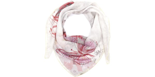 Dámský světlý šátek s motýlem Fraas