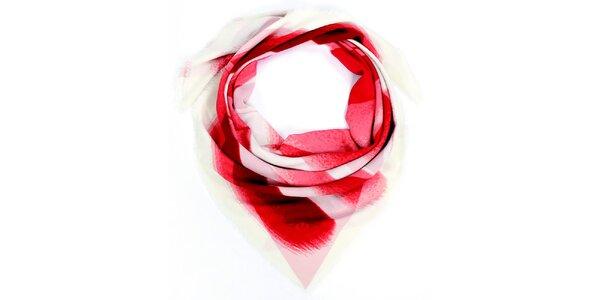 Dámský červeně vzorovaný šátek Fraas