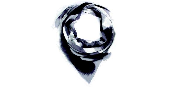 Dámský šedě vzorovaný šátek Fraas