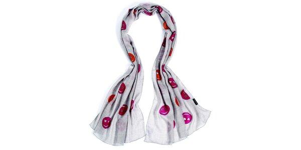 Dámský šátek se smajlíky Fraas