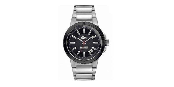 Pánské ocelové hodinky s tmavým ciferníkem Lacoste