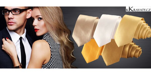 """Úzké jednobarevné """"slim"""" kravaty"""