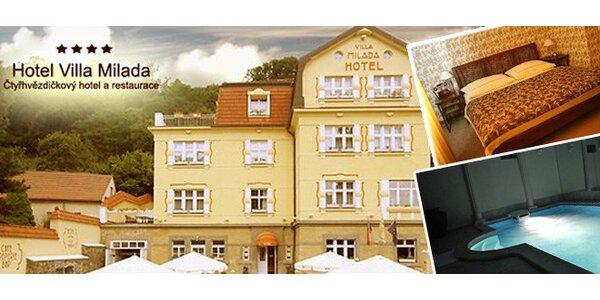 Odpočinek s wellness v Boutique Hotel Villa Milada **** kousek od Pražského…