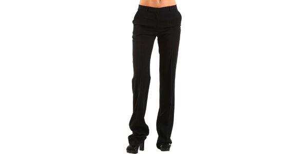 Dámské černé společenské kalhoty Calvin Klein s puky