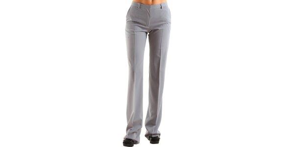 Dámské šedé společenské kalhoty Calvin Klein s puky