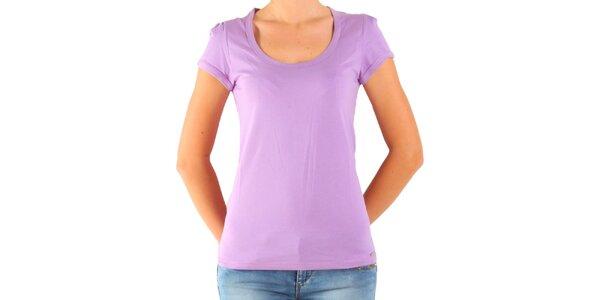 Dámské šeříkové tričko Calvin Klein