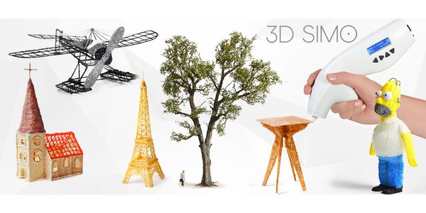Unikátní 3D pero 3Dsimo – kreslete plasticky!