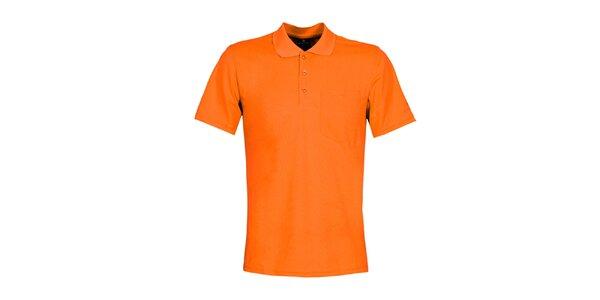 Pánské oranžové polo tričko Bergson