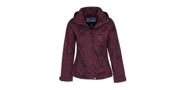 Dámská fialová bunda s potiskem Bergson