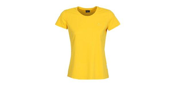 Dámské funkční citronové tričko s krátkým rukávem Bergson