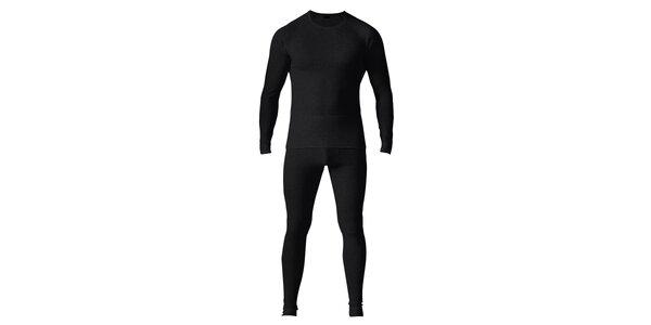 Pánský černý set spodního prádla - tričko a kalhoty Bergson