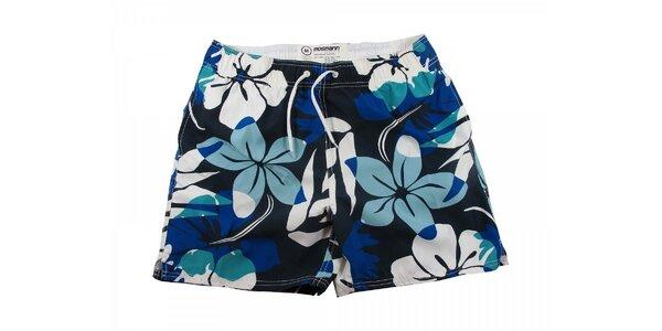 Modré květované pánské plavky Mosmann