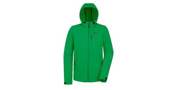 Pánská zelená softshellová bunda Maier