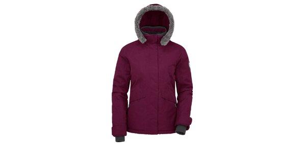 Dámská fialová bunda s kapucí Maier