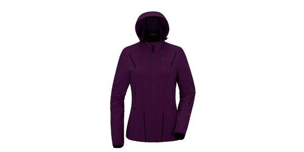 Dámská fialová softshellová bunda s kapucí Maier