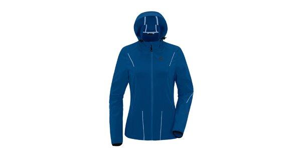 Dámská modrá softshellová bunda s kapucí Maier