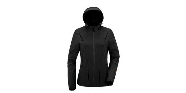 Dámská černá softshellová bunda s kapucí Maier