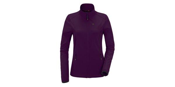 Dámská fialová softshellová bunda se stojáčkem Maier