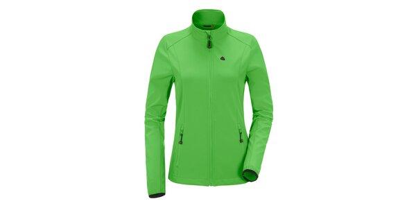 Dámská zelená softshellová bunda se stojáčkem Maier
