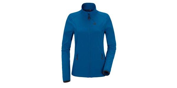 Dámská modrá softshellová bunda se stojáčkem Maier