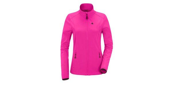Dámská růžová softshellová bunda se stojáčkem Maier