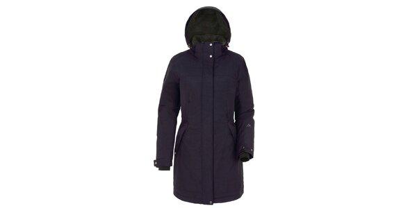 Dámský tmavě modrý kabát s kapucí Maier