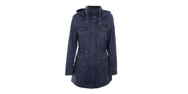 Dámský tmavě modrý krátký kabát Halifax