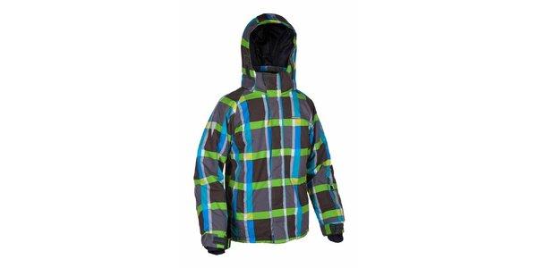 Pánská barevně kostkovaná bunda na lyže Envy