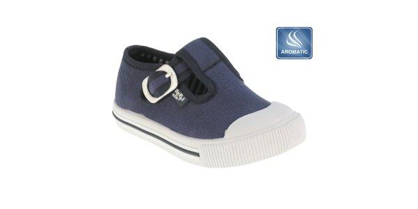 Dětské tmavě modré boty s přezkou Beppi