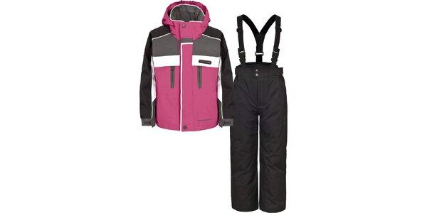 Dětský černo-růžový lyžařský komplet Trespass