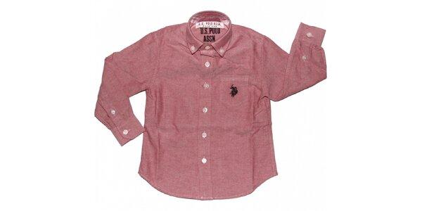 Dětská růžová košile U.S. Polo